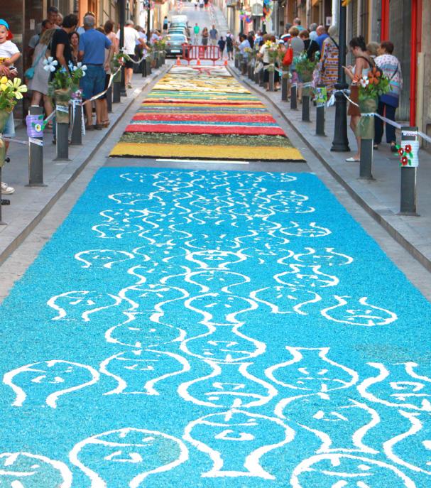 Las alfombras de flores del Corpus