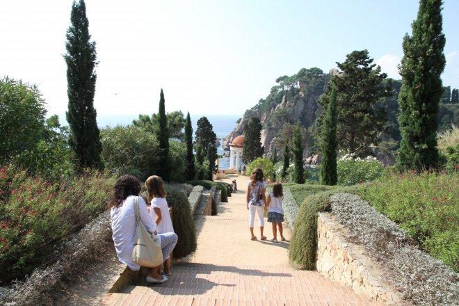 Visita amb família al Jardí Botànic Marimurtra